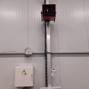 aérothermes electriques 18 kW dans chapiteau