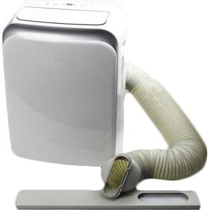 Climatiseur mobile avec tuyau d'évacuation d'air chaud