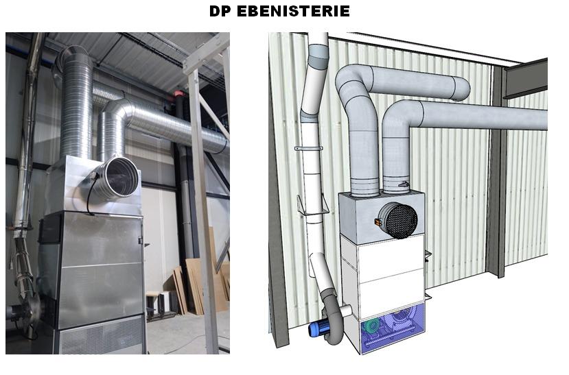étude d'installation d'un générateur d'air chaud